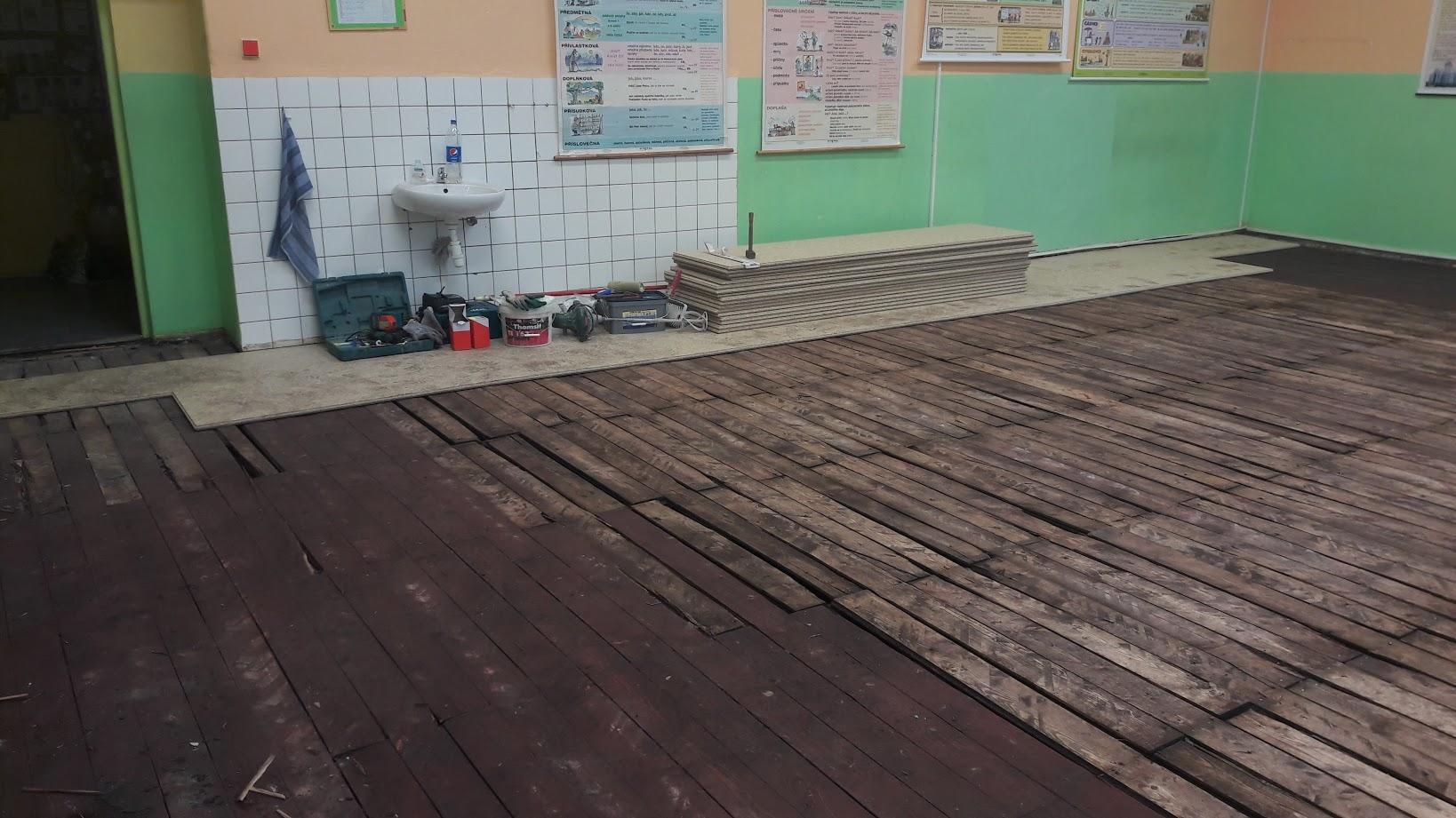 Pokládka MFP na stávající podlahu
