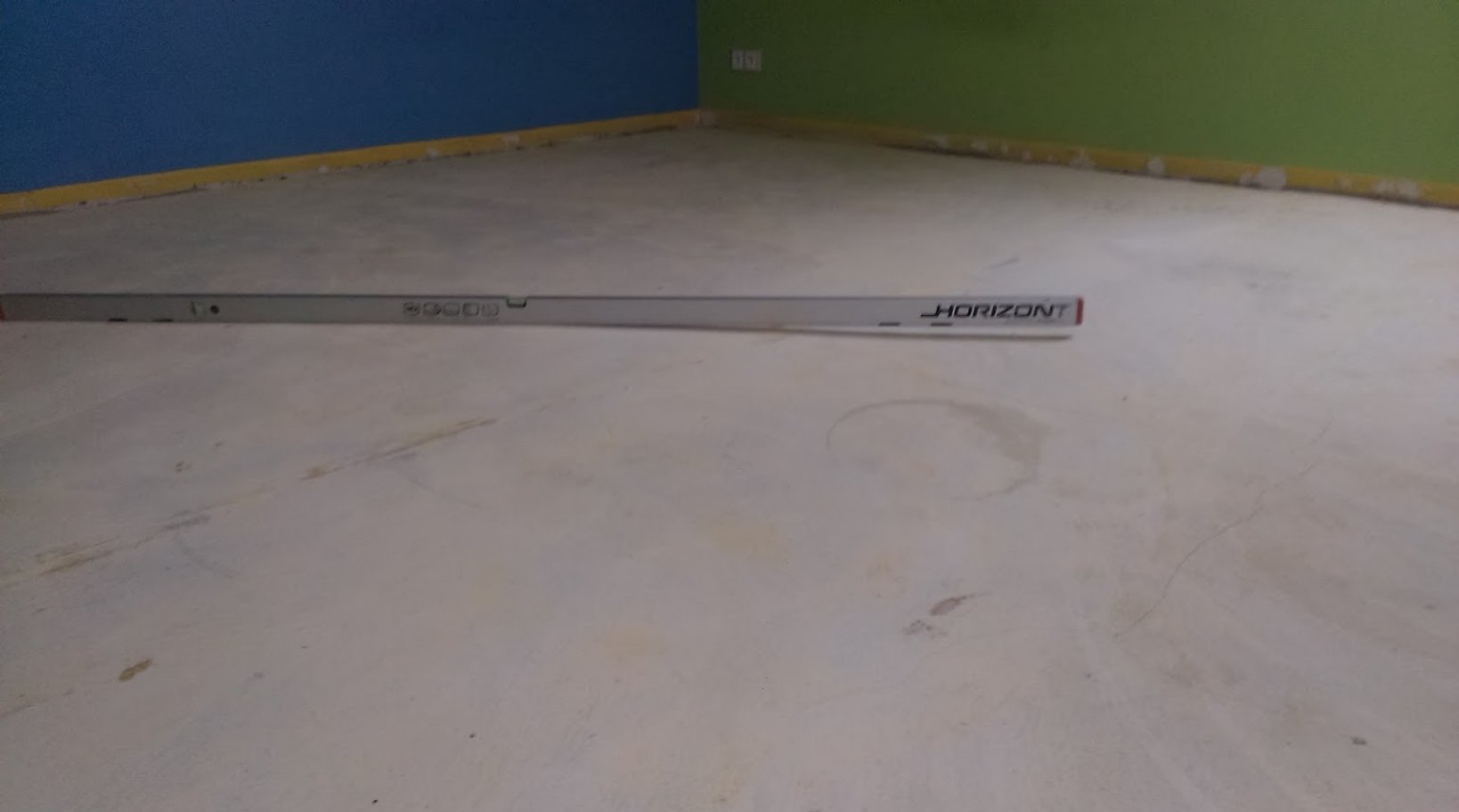 Rovná podlaha v novostavbě